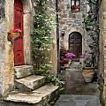 Tarquinia Red Door Impasto by Sharon Foster