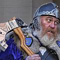 Tartan Day Parade Nyc 2013 Shetland Isle Celtic Warrior by Robert Ullmann