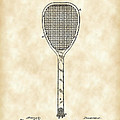 Tennis Racket Patent 1887 - Vintage by Stephen Younts