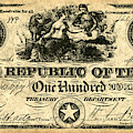 Texas Banknote, 1839 by Granger