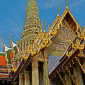 Thai-khmer Pagoda At Grand Palace Of Thailand In Bangkok by Ruth Hager