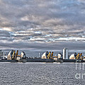 Thames Barrier London by Philip Pound