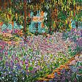 The Artists Garden At Giverny by Celestial Images