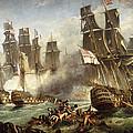 The Battle Of Trafalgar by English School