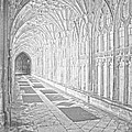 The Cloister In Gloucester Cathedral by Luis Alvarenga