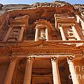 The Facade Of Al Khazneh In Petra Jordan by Robert Preston