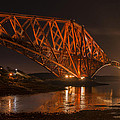 The Forth Bridge By Night by Ross G Strachan
