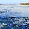 The Frozen Dnieper River by Alain De Maximy