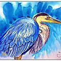The Great Blue Heron by Sarabjit Kaur