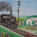 The Hillsboro Local Passing My Birthplace At Sardinia by Frank Hunter