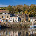 The Inner Harbour At Padstow by Louise Heusinkveld
