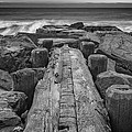 The Jetty In Black And White by Rick Berk