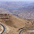 The King's Highway At Wadi Mujib Jordan by Robert Preston