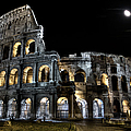 The Moon Above The Colosseum No2 by Weston Westmoreland