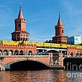 The Oberbaum Bridge In Berlin Germany by Michal Bednarek