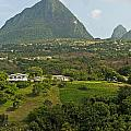 The Pitons In Saint Lucia by Luis Alvarenga