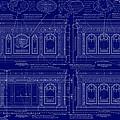 The Resolute Desk Blueprints - Dark Blue by Kenneth Perez