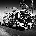 the sdx strip downtown express bendy bus on the Las Vegas strip Nevada USA by Joe Fox