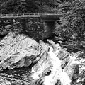 The Sinks Smoky Mountains Bw by Cynthia Woods