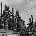 The Steel Mill In Black And White by Paul Ward