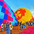 The Taos Mountain Balloon Rally 2 by Digital Photographic Arts