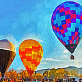 The Taos Mountain Balloon Rally 3 by Digital Photographic Arts