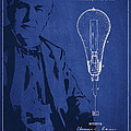 Thomas Edison Incandescent Lamp Patent Drawing From 1890 by Aged Pixel