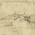 Three Kinds Of Movable Bridge by Leonardo Da Vinci