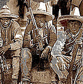 Three  Revolutionary Soldiers With Rifles Unknown Mexico Location Or Date-2014 by David Lee Guss