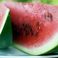 Three Slices Of Watermelon by Foodcollection
