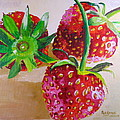 Three Strawberries by Pat Gerace