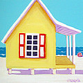 Tiny Yellow Cottage By The Sea by Rebecca Korpita