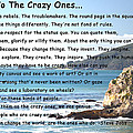 To The Crazy Ones by Barbara Snyder