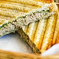 Toasted Tuna Sandwiches For American Breakfast by Tuimages
