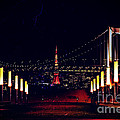 Tokyo Tower At Night by Beverly Claire Kaiya