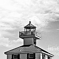 Top Of The New Canal Lighthouse - Bw by Scott Pellegrin