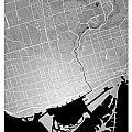 Toronto Street Map - Toronto Canada Road Map Art On Colored Back by Jurq Studio