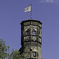Tower And Flag Cologne Germany by Teresa Mucha