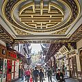 Traditional Shopping Area In Shanghai China by Jacek Malipan