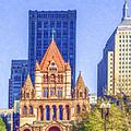 Trinity Church Boston Usa by Liz Leyden