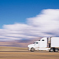 Truck On The Road, Interstate 70, Green by Panoramic Images