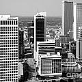 Tulsa Oklahoma Skyline Aerial by Bill Cobb