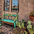 Turquoise Bench by Diana Powell