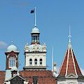 Turrets, Spires & Clock Tower, Historic by David Wall