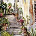 Tuscan Steps by Melinda Saminski