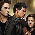 Twilight  Kristen Stewart And Robert Pattinson Artwork 2 by Sheraz A