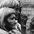 Two Elderly Apache Women Labor Day Rodeo White River Arizona 1969 by David Lee Guss