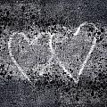 Two Hearts Graffiti Love by Carol Leigh