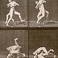 Two Men Wrestling by Eadweard Muybridge