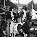 Two Women Talking by Underwood Archives